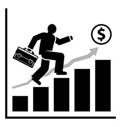 Rich success man vector image vector image