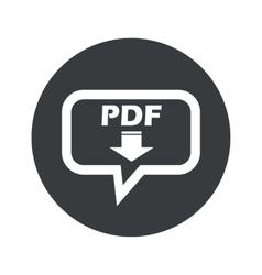 Round pdf download dialog icon vector