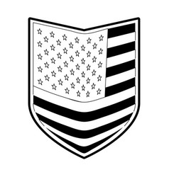 Shield of flag united states of america in vector