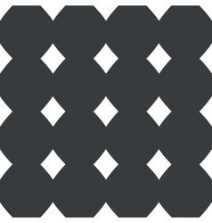 Straight black diamonds pattern vector