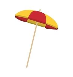 striped parasol icon vector image
