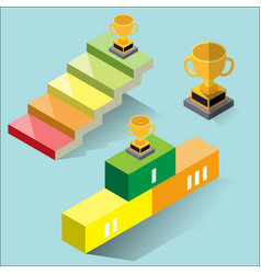 success concept - isometric vector image vector image