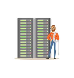 System administrator server admin programmer vector