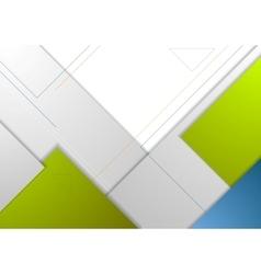 Tech minimal corporate flyer template vector