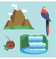 Travel Concept Argentina Landmark Flat Design vector image vector image