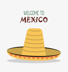 Welcome to mexico destination tourism image vector
