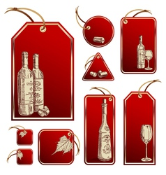 wine tag vector image vector image