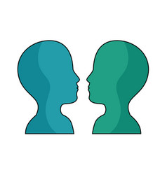 women and man head vector image vector image
