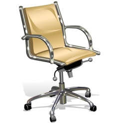 white armchairs vector image