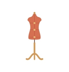 Tailor mannequin flat icon vector