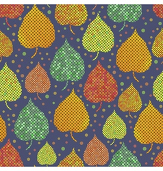 Bright seamless background with autumn leaves vector