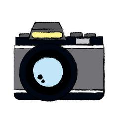 retro photo camera lens equipment photography icon vector image