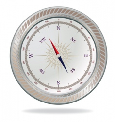 Retro silver compass vector