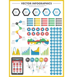 Big pack of data visualization infographics and vector