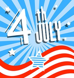 4 th July Independence Day Symbol vector image vector image