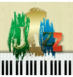 Abstract grunge background with the word jazz and vector
