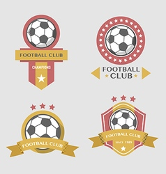 Soccer football badges vector