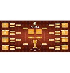 Soccer champions final spreadsheet vector