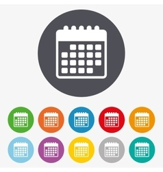 Calendar icon event reminder symbol vector