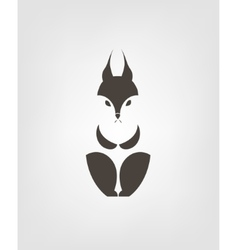 Squirrel sign squirrel vector