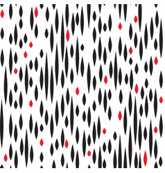 abstract spot seamless pattern black and red blot vector image vector image