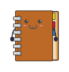 Adress book kawaii vector