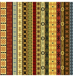 African motifs background vector image vector image