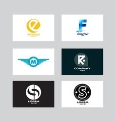 Alphabet letter icon logo set vector image