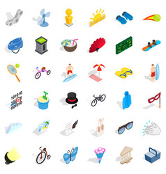 Amusement icons set isometric style vector