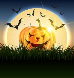 beautiful halloween design vector image