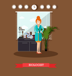 biologist concept in flat vector image vector image