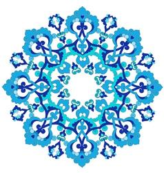 Blue oriental ottoman design thirty three vector