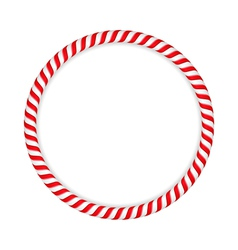 Candy Cane Circle vector image