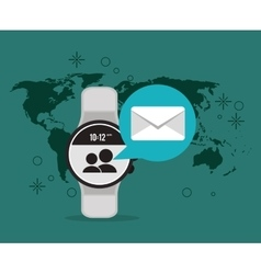 digital messaging related icons image vector image