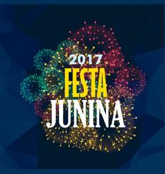 Festa junina background with fireworks vector