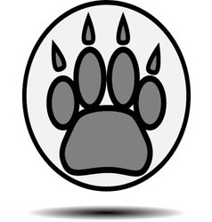 Foot print animal vector
