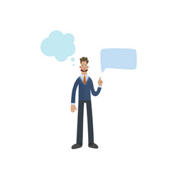 Funny business man character with empty speech vector