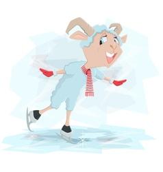 Goat skates Symbol 2015 vector image