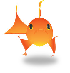 Goldfish koi fish vector