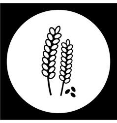 Grain corn simple isolated black icon eps10 vector