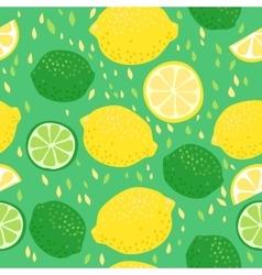 Lemons and Limes Seamless Pattern vector image