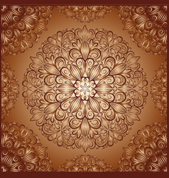 mandala pattern in vintage style vector image vector image