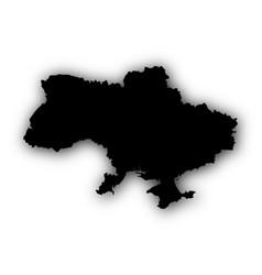 Map of ukraine with shadow vector
