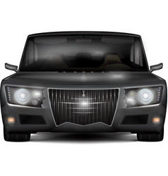 Modern dark silver car with retro design elements vector image vector image