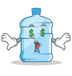 money eye gallon character cartoon style vector image