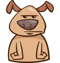 Mood bored dog cartoon vector