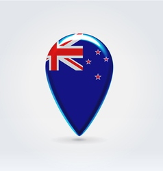 New Zealand icon point for map vector image