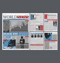Newspaper open realistic template design vector
