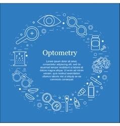 Optometry round concept optician vector