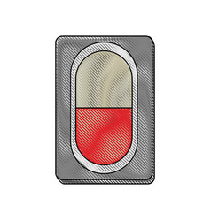 pill medicine isolated vector image